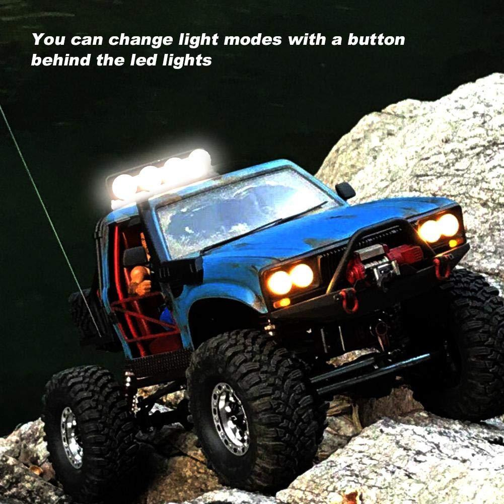Blue 105mm RC Crawler Multi-function LED Light Lamp Bar for 1:10//1:8 RC Car Upgrade Part Accessory RC Crawler LED Light