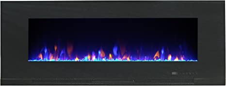 Paramount Ef Wm362 Mo Mirage Recessed Or Surface Mount Fireplace 42 Black Amazon Ca Home Kitchen