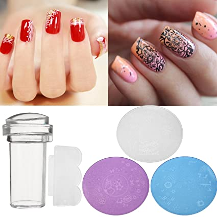 Amazon Nail Tools 3pcs Diy Nail Art Stamp Stencil Stamper Set