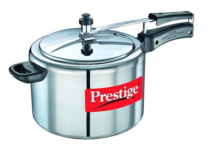 Nakshatra Plus Straight Wall Pressure Cooker, 10 Litres, Silver