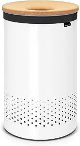 Brabantia Large Laundry Bin with Cork Lid, 16 Gallon (60L), White