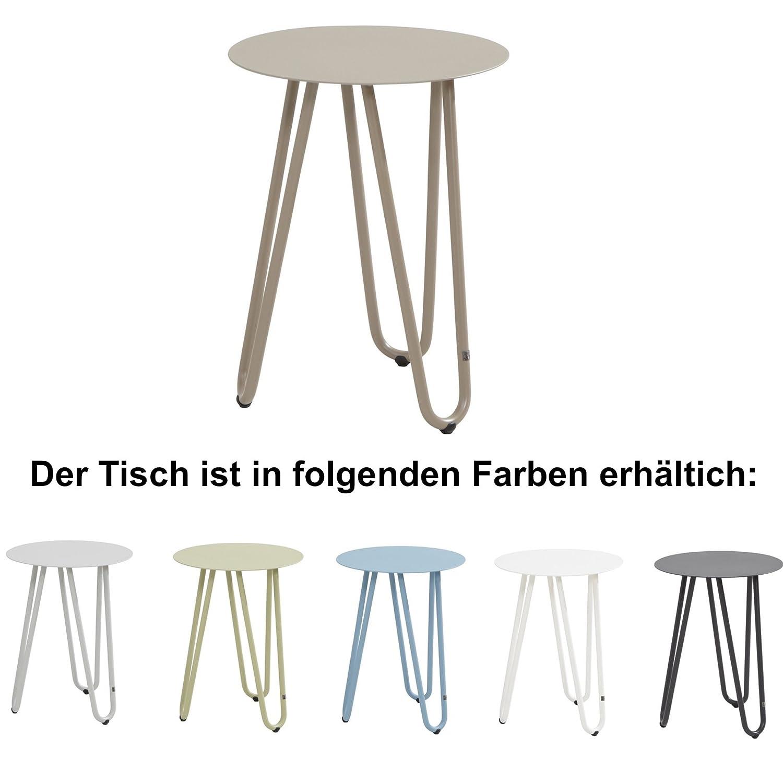 4Seasons Outdoor Cool Beistelltisch ø 42 cm Side Table in 6 Farben erhältlich Weiß