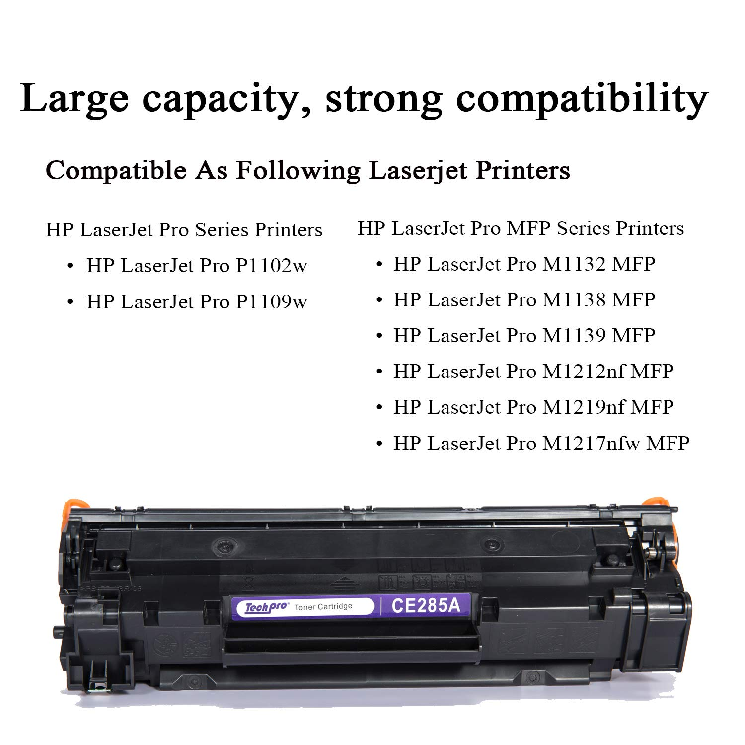Toner Printer Cartridge Replacement High Yield Black Laser For Hp Laserjet P1102 M1132 Compatible Pro M1212nf Ce285a 85a 1500 Pages