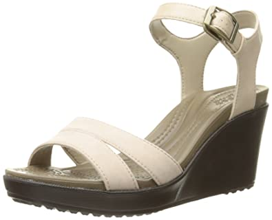 b9ed5a29683 crocs Women s Leigh II Ankle Strap Wedge