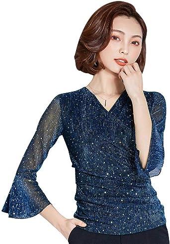 Blusa Sin Mangas con Camisetas Lentejuelas para Brillantes Shirt Mujer Blusa Si: Amazon.es: Ropa y accesorios