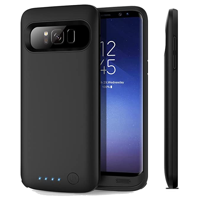 finest selection 9eed2 59bee Galaxy S8 Battery Case, iPosible 6000mAh Rechargeable Portable Charging  Case for Samsung Galaxy S8 (5.8inch 2017) Extended Battery Pack Fast Charge  ...