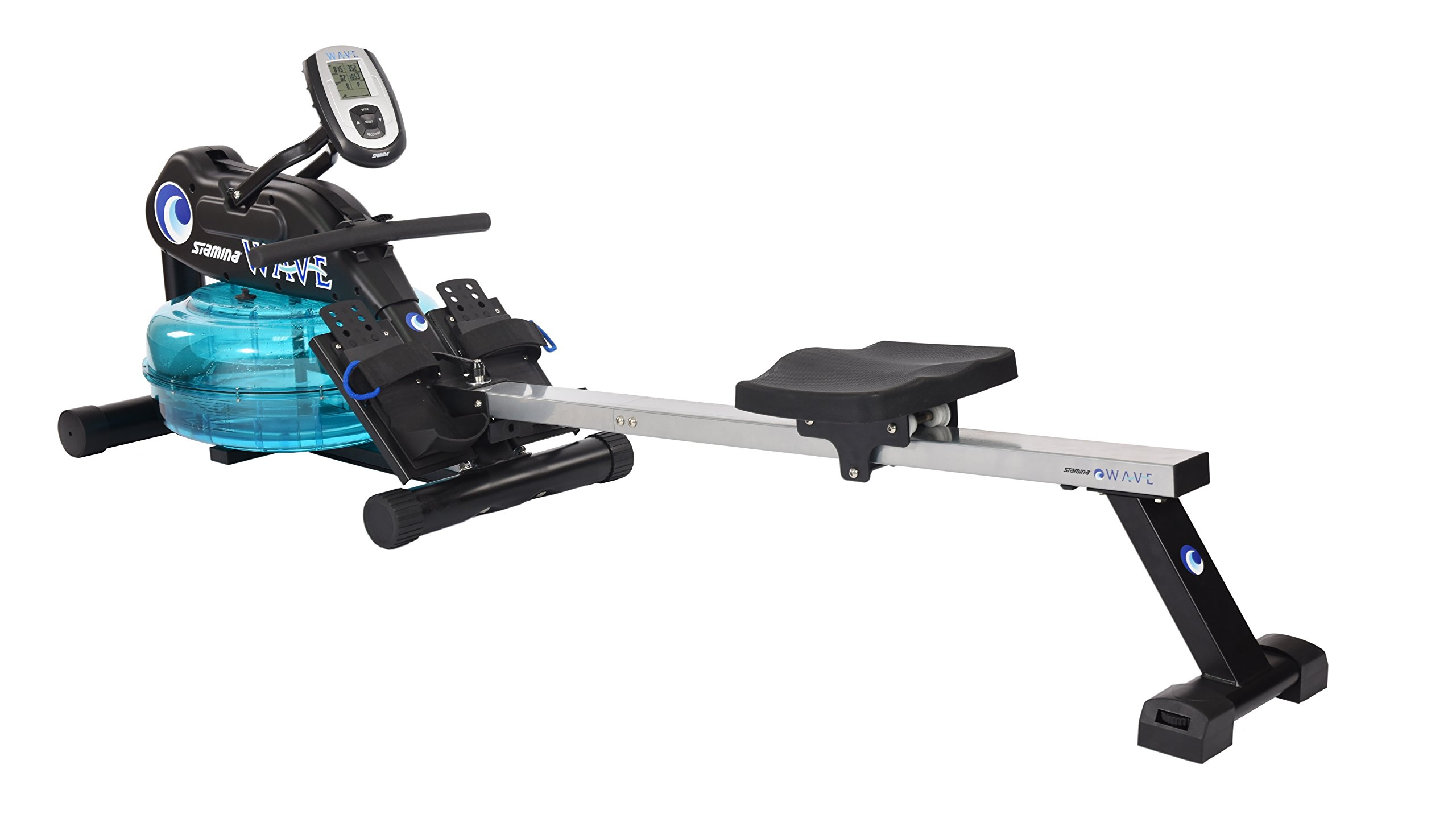 Stamina 'New and Improved' Elite Wave Water Rower - Rowing Machine 1450 w/Heart Rate Sensor for Customized Workouts by Stamina