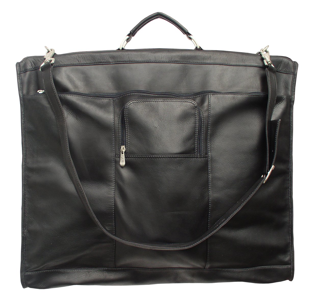 Piel Leather Traveler 40'' Elite Garment Carrie in Black by Piel Leather