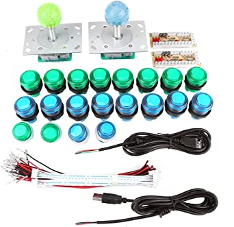 10 Pcs lot DIY Arcade Parts 5 Colors 30mm Small Black Rim LED Illuminated Push Button With Micro Switch for Arcade Video Game