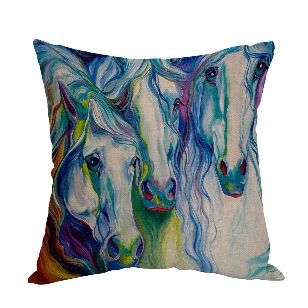 Amazon.com: Moslion - Almohada decorativa de lino y algodón ...