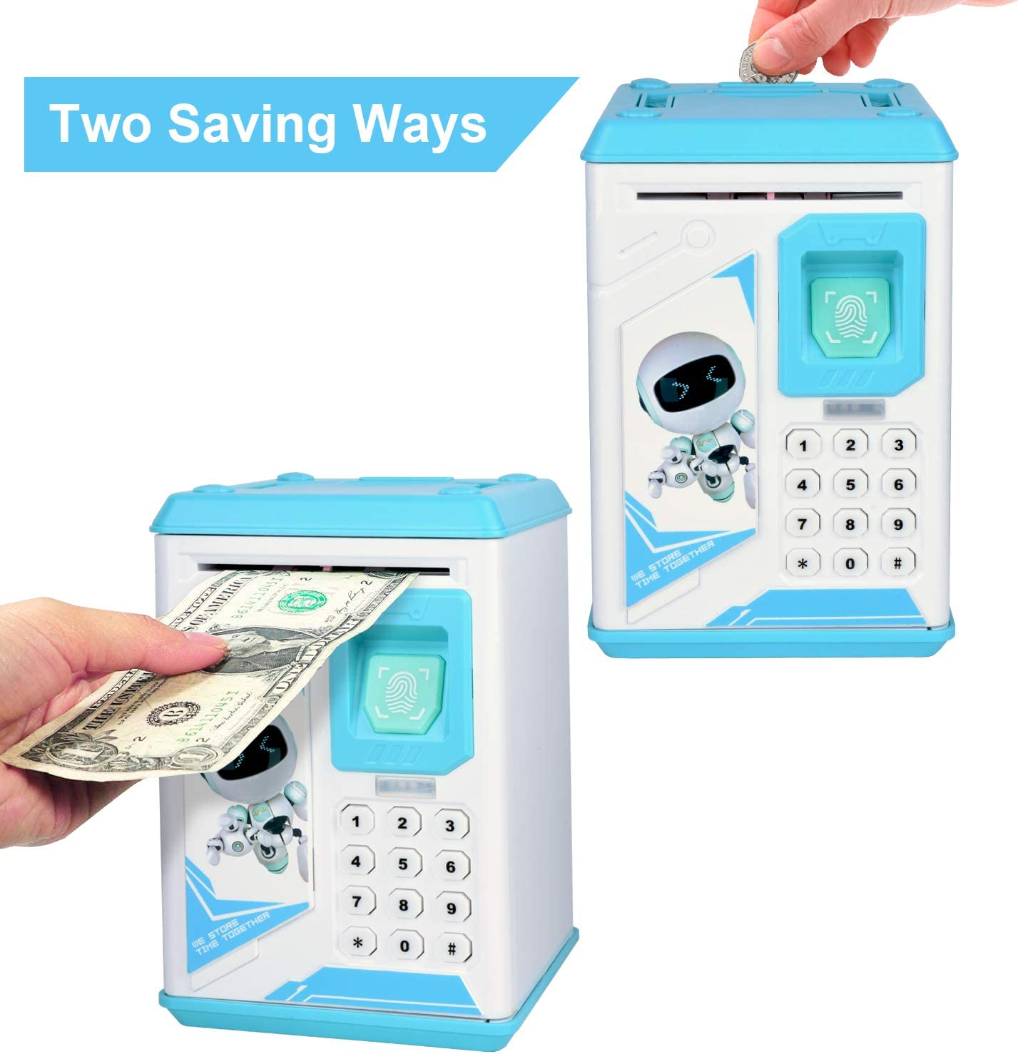 Lefree Mini ATM Electronic Coin Bank,Smart Electronic Piggy Bank, Safe with Password Mini ATM Bank,Mini ATM Electronic Coin Bank Box for Children