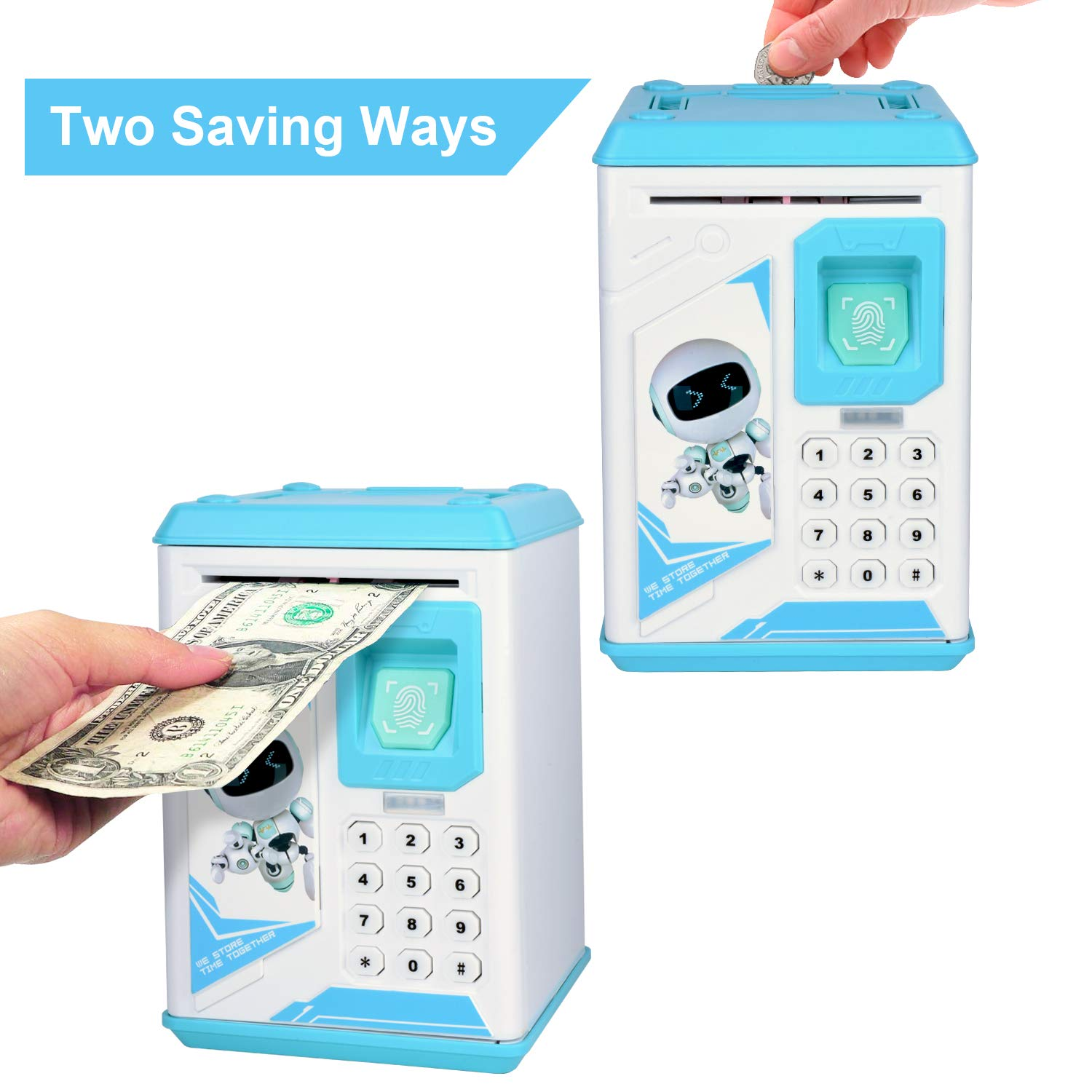 Lefree Mini ATM Electronic Coin Bank,Smart Electronic Piggy Bank, Safe with Password Mini ATM Bank,Mini ATM Electronic Coin Bank Box for Children by Lefree