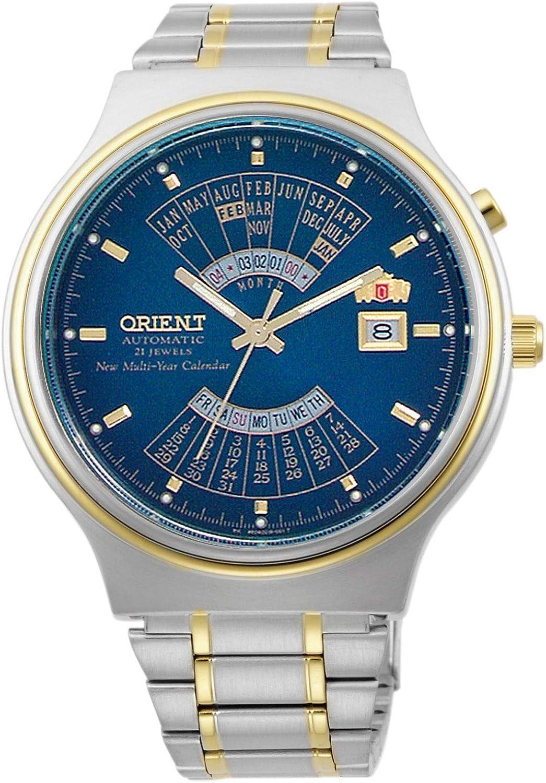 Orient Reloj Analógico para Hombre de Automático con Correa en Acero Inoxidable FEU00000DW