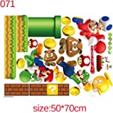 Jewh Super Mario Bros Kids Removable Wall Sticker - Decals Nursery Home Decor Vinyl Mural for