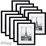 upsimples 8x10 Picture Frame Set of 10,Display Pictures 5x7 with Mat or 8x10 Without Mat,Multi Photo Frames Collage for Wall