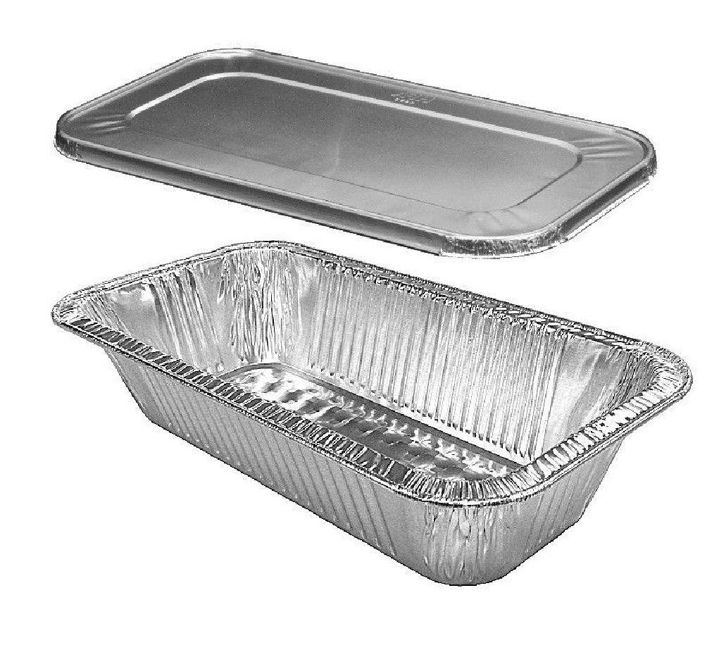 1/3 ThirdSize TruFit Medium (4 lb.) Steam Table Aluminum Pan w/Lid