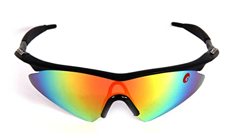 19a94a8db977 Image Unavailable. Image not available for. Colour  Omtex Prime Rainbow  Sports Sunglasses ...