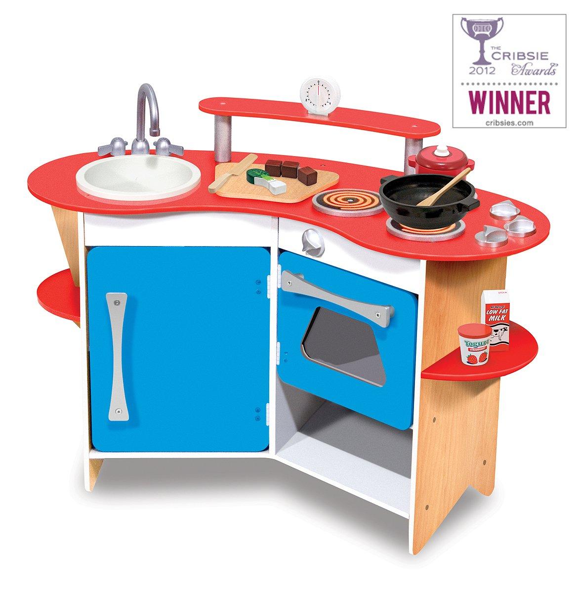 Amazon.com: Melissa & Doug Cook\'s Corner Wooden Pretend Play Toy ...