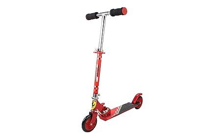 5734707d7e8 Ferrari Kids Scooter 2 Wheels Kick Push Folding Aluminum Stunt Height  Adjustable Skate Board (Red