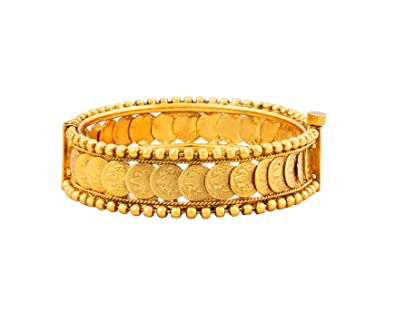 675f017cc06 BFC- Buy for Change Women's Mahalaxmi Coin Designer Gold Plated 2.2 Bangle /Kada/Bracelet for Festival and Special Occasion (Openable): Amazon.in:  Jewellery