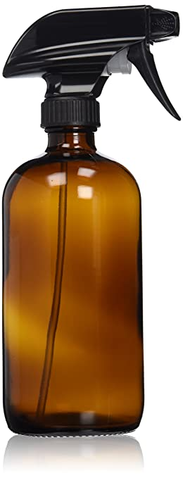 a84562cefd6 Empty Amber Glass Spray Bottle - Large 16 oz Refillable Container is Great  for Essential Oils