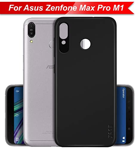 premium selection 3a1eb e71c8 Knotyy Soft TPU Back Cover for Asus Zenfone Max Pro M1 (Black)