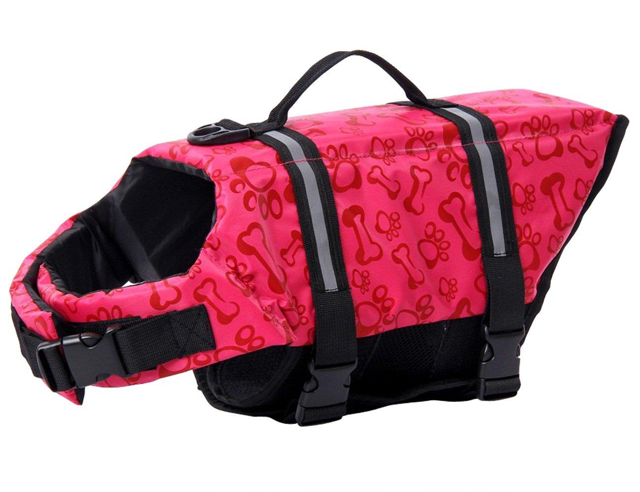 Dog Life Jacket Vest,Float Coat for Dogs,Quick Release Easy-Fit Adjustable Dog Lifejackets,Dog Safety Life Coat,Reflective Vest Pet Life Preserver