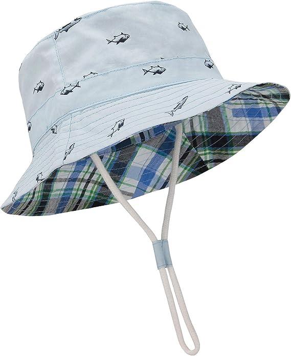 100/% Bamboo summer BABY boys sun HAT 0-18 months TIE UP Cap BOY