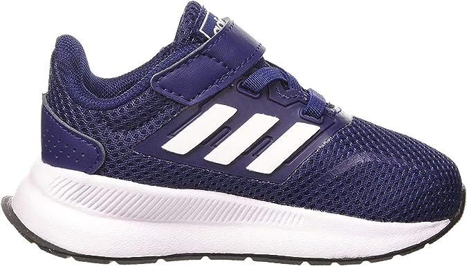 adidas Runfalcon I, Basket Mixte Enfant, Dark BlueFTWR