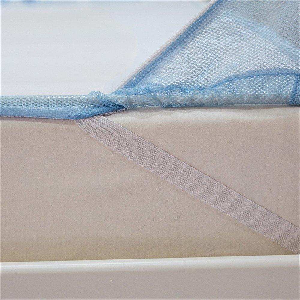 Zhangcaiyun Moskitonetz Moskitonetz Dreitürige offene Moskitonetze Bett Typ Moskitonetze offene Full-Boden Anti-Drop-Netze geeignet für Bedroo Baldachin (Größe   1.2  1.95m) fd5904