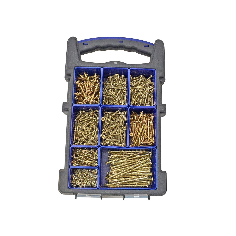 Organizador de tornillos de madera FORFFP1000Y Forgefast Pozi compatible con Elite Performance Forgefix color plateado FORFFP5100Y plateado