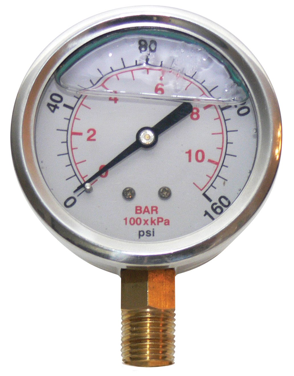Underhill A-PG160L Liquid Filled Pressure Gauge, 160 PSI by Underhill