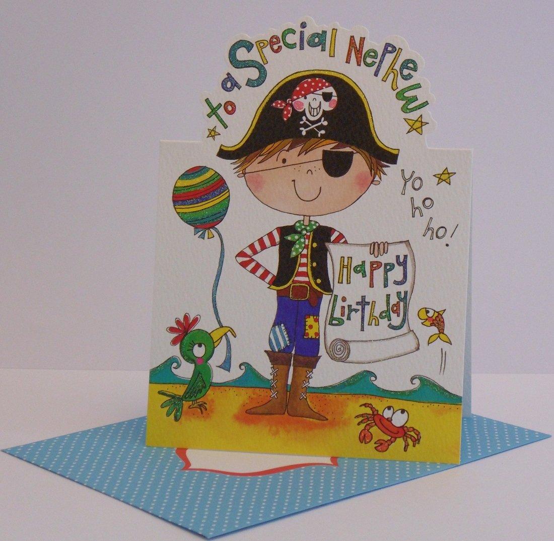 Nephew Pirate Birthday Card Amazoncouk Electronics – Pirate Birthday Card