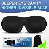 Ultra Invisiable Nose Alar Sleep Mask 3D Contoured Soft Eye Masks Adjustable Strap for A Full Night's Comfortable Sleep, Ultimate Sleeping Aid, Blindfold, Blocks Light (BLACK)
