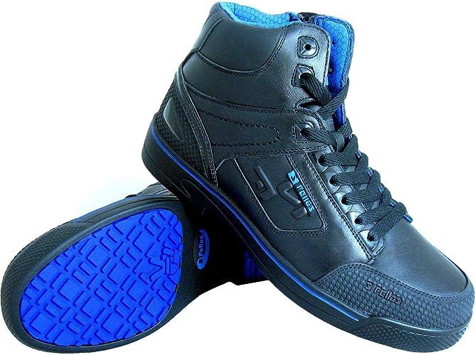 Black Leat S Fellas by Genuine Grip Men/'s 5010 Slip-Resistant Stealth Work Boot