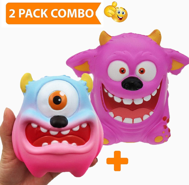 Katsu Retail Group 2 Piezas Juguetes DE Levantamiento DE Monstruo Jumbo Slow Grandes Squishies Raro Kawaii | Paquete de Juguetes Prime Soft Cute Kids Squishes - Alivio del estrés: Amazon.es: Juguetes y juegos