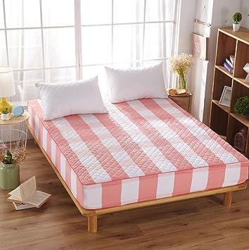 Wmshpeds Tela de algodón con colchas de algodón ropa de cama colchones colchones colchones colchón protector conjuntos de non - Tapa protectora deslizante: ...