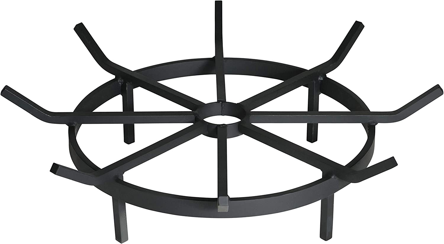 SteelFreak Wagon Wheel Firewood Grate for Fire Pit – Made in the USA 24 Inch