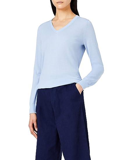 MERAKI Pull en Laine Mérinos Femme avec Col V  Amazon.fr  Vêtements et  accessoires 6f010223207