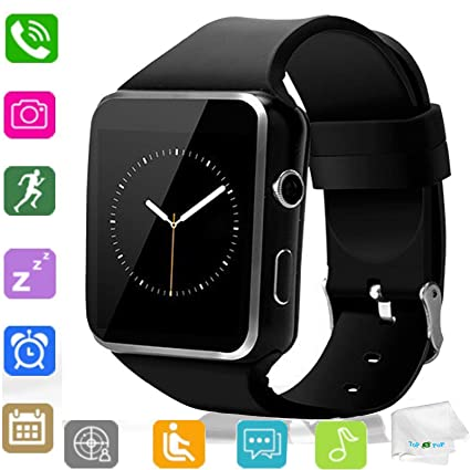 Amazon.com: Reloj inteligente Bluetooth reloj de pulsera SIM ...