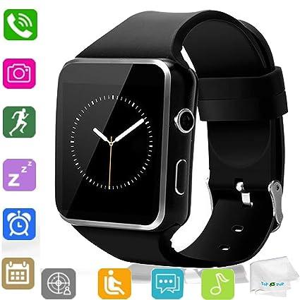 Amazon.com: Reloj inteligente Bluetooth reloj de pulsera SIM ...