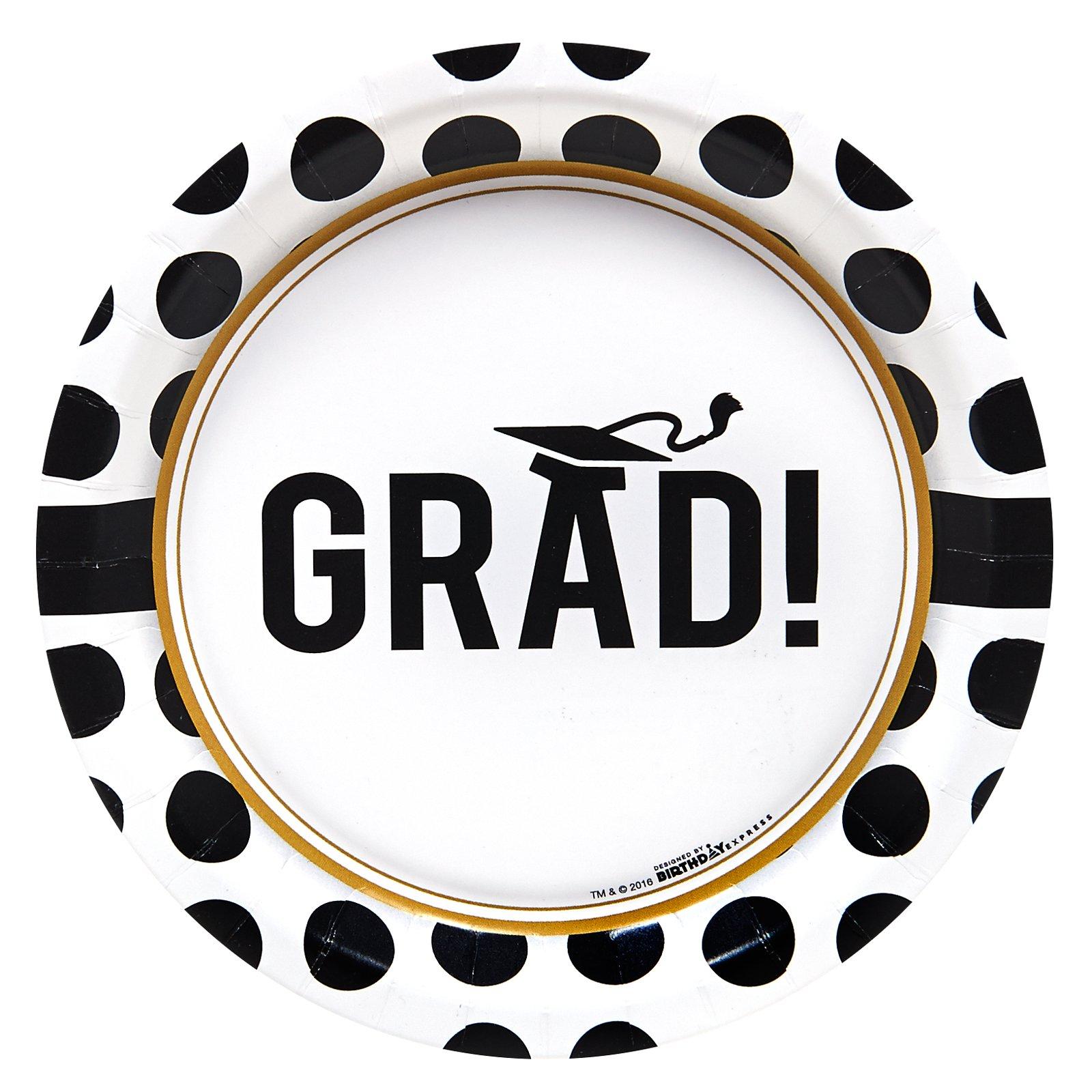 Graduation Party Supplies - Dessert Plates (8)