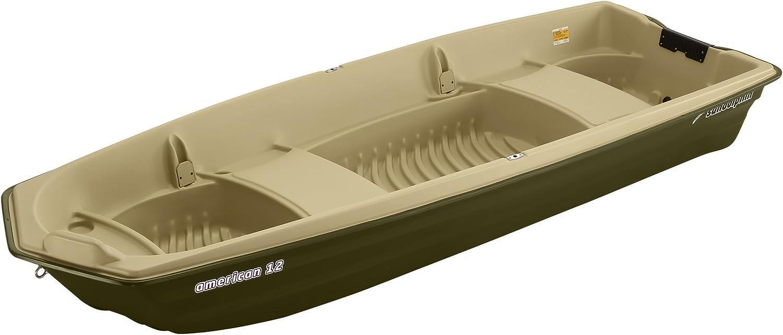 SUNDOLPHIN Sun Dolphin American 12 Jon Fishing Boat (Beige/Green, 12-Feet)