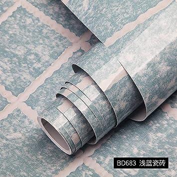LZYMLG Mesa Puerta Muebles PVC Vinilo Película Impermeable Baño ...