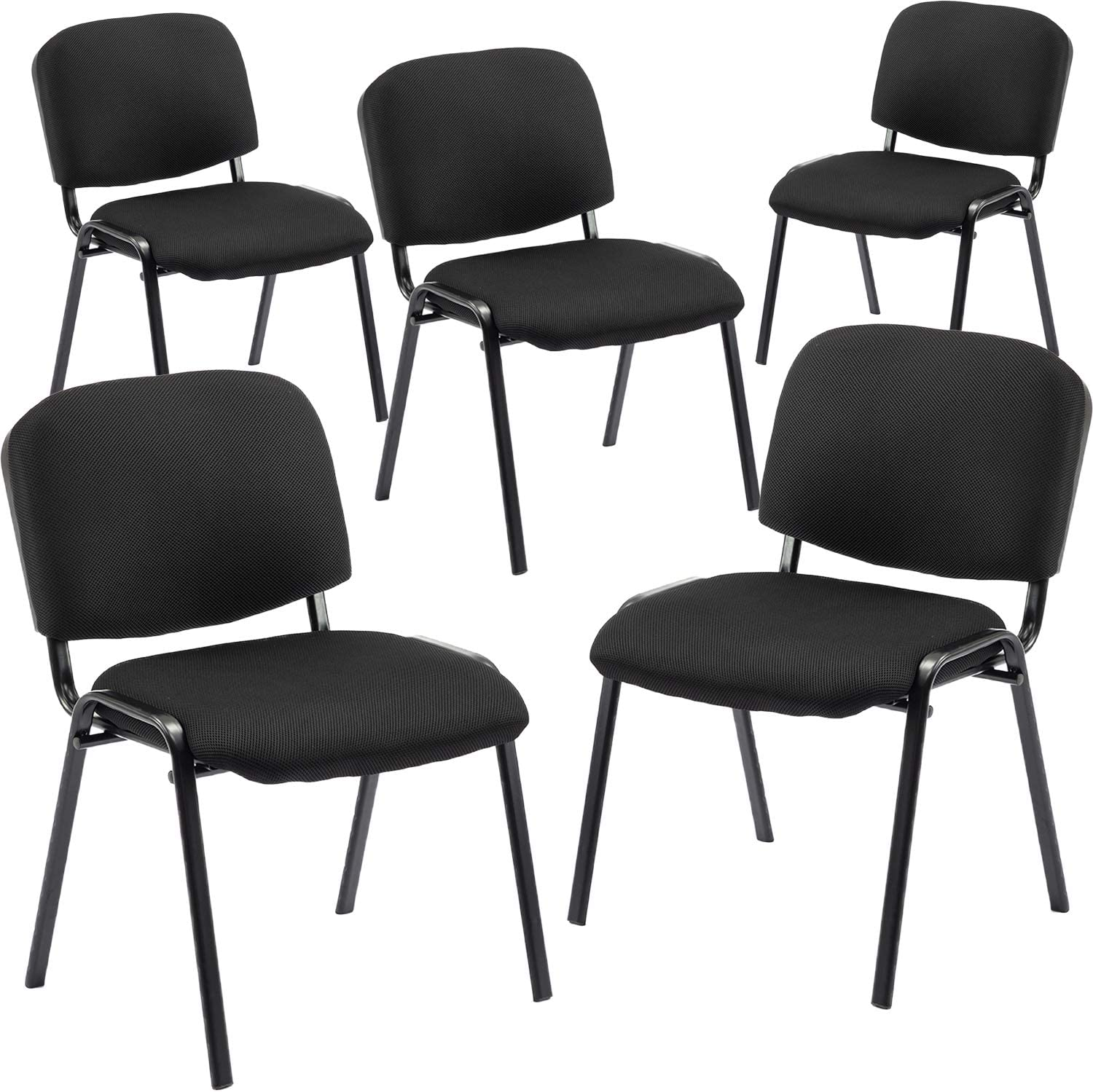HiYeah Reception Chair Stacking Mesh Armless Side Chair Office Conference  Stackable Chairs for Guest, Waiting Training Room, Lobby, Banquet, Events