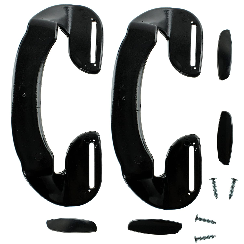 Spares2go Universal Adjustable Door Handles For all makes And Models Of Fridge Freezer (190mm, Black)