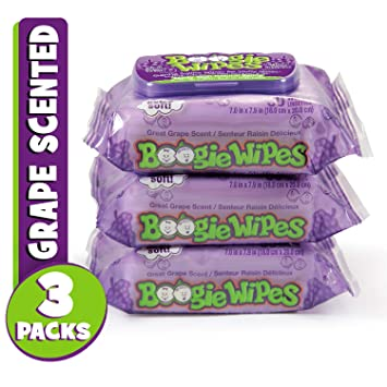 270f1c46 Boogie Wipes, Wet Wipes for Baby and Kids, Nose, Face, Hand and Body, Soft  and Sensitive Tissue...