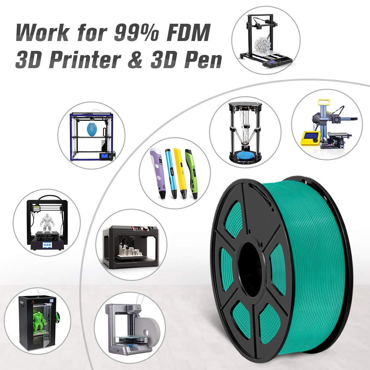 SUNLU 3D filament 1.75 Blue PLA+ Filament 1.75mm Green 3KG PLA+ Filament 0.02mm for 3D Printer 3D Pens Red
