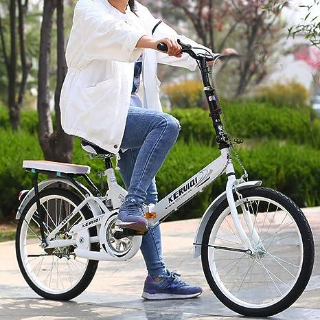 Mini bicicleta plegable ligera de 20 pulgadas, pequeña y portátil ...