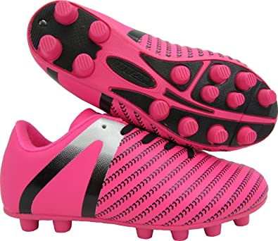 b9b781559 Vizari Baby Impact FG Soccer Shoe, Pink/Silver, 8 Regular US Toddler